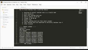 Sublime Text 3.2.2 Crack Build 3211 & License Key Full Download